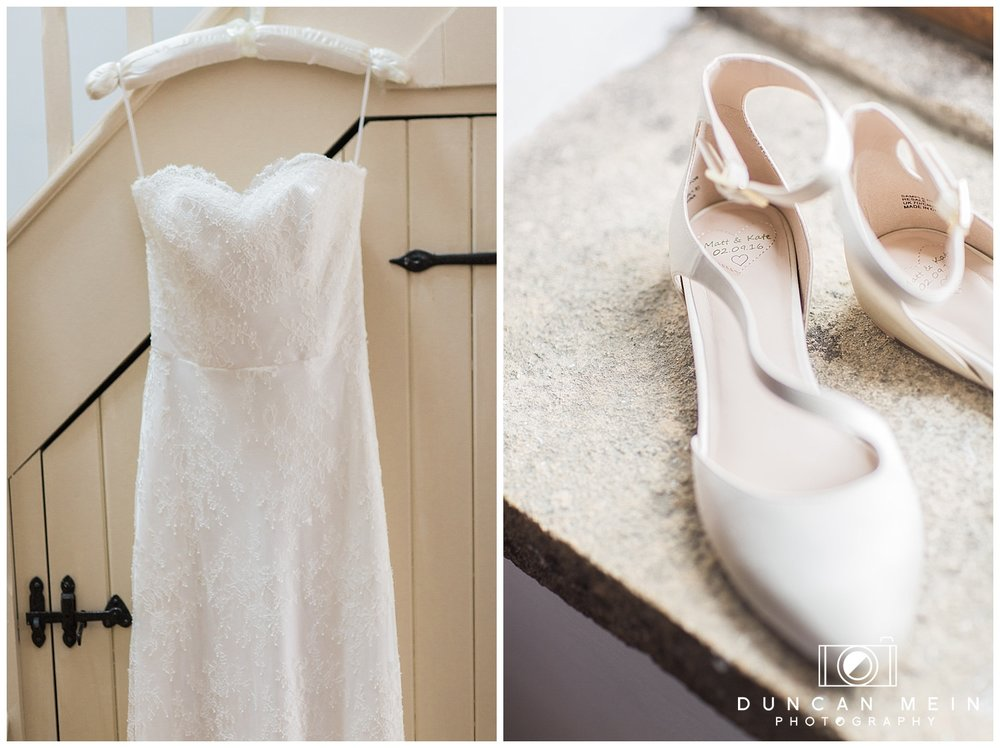Rustic Barn Wedding in Somerset - Wedding Dress and Shoes
