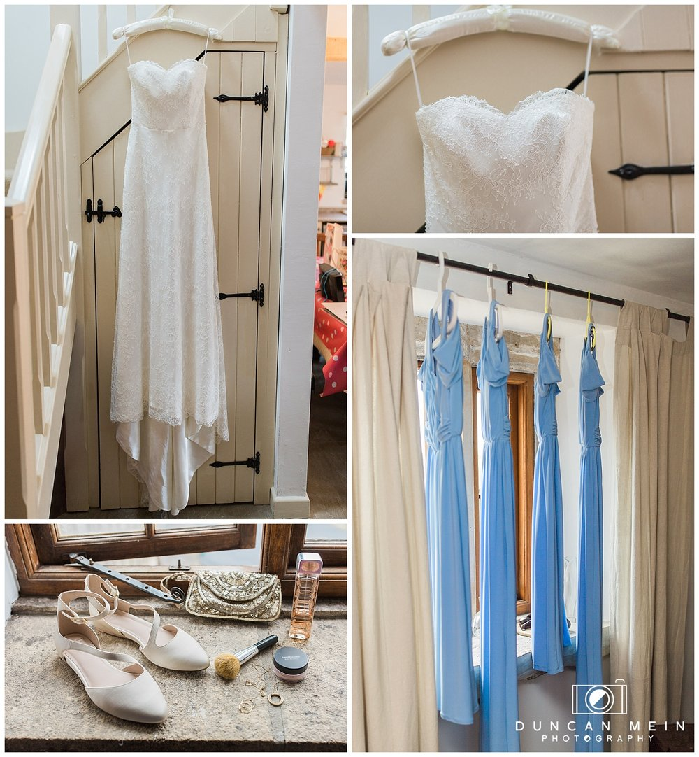 Rustic Barn Wedding in Somerset - Bride and Bridesmaids' Dresses