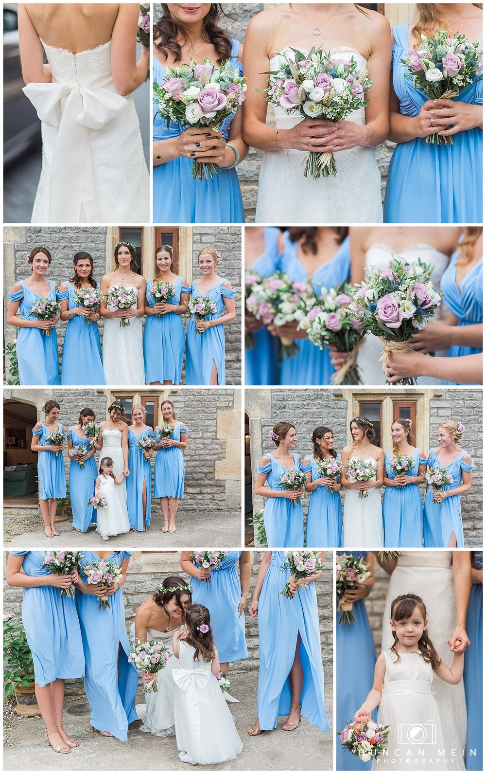 Rustic Barn Wedding in Somerset - Bouquets and Bridesmaids