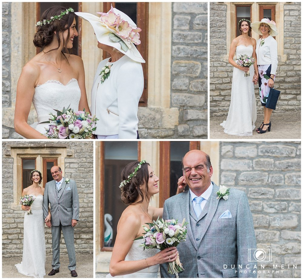 Rustic Barn Wedding in Somerset - Bride and Family Portraits