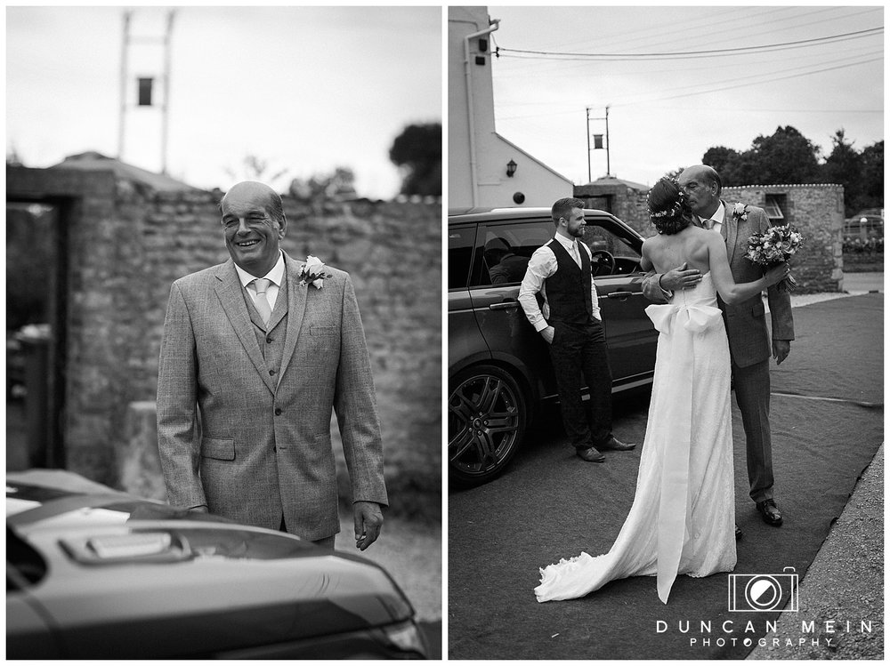 Rustic Barn Wedding in Somerset - Father Seeing Daughter