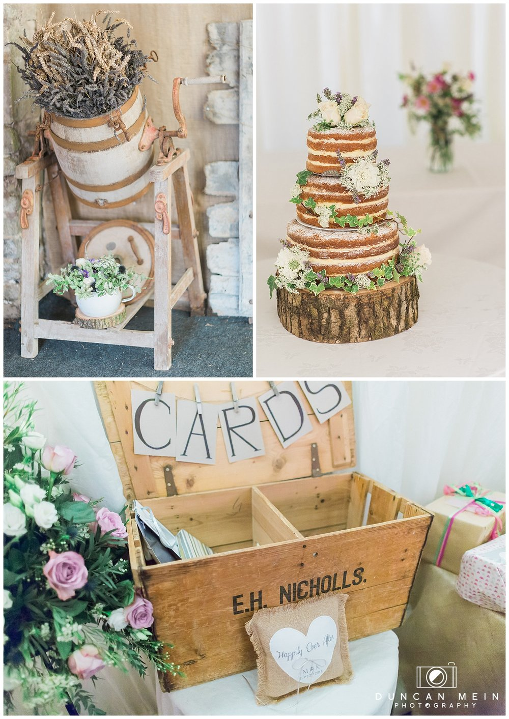 Rustic Barn Wedding in Somerset - Cake and Details