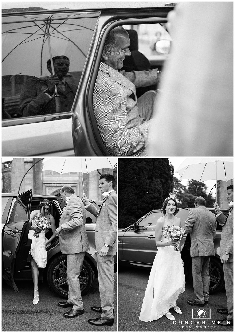 Rustic Barn Wedding in Somerset - Arrival of the Bride