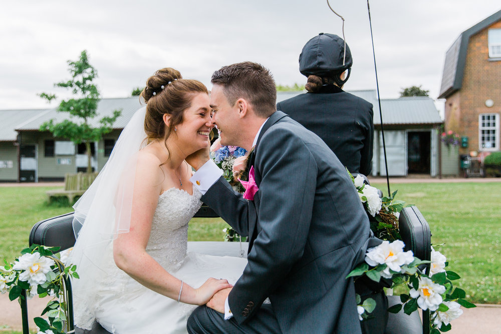 Wedding At Seftons Barn - Horse and Carriage