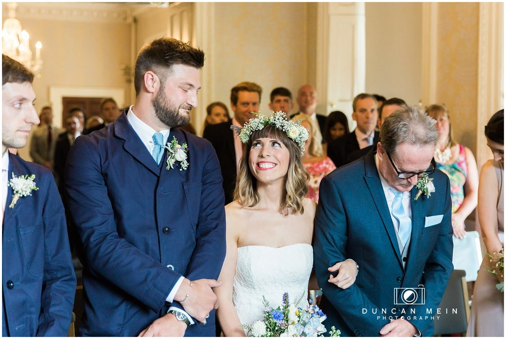 Wedding at Goldney Hall - Wedding ceremony at Clifton Hill House