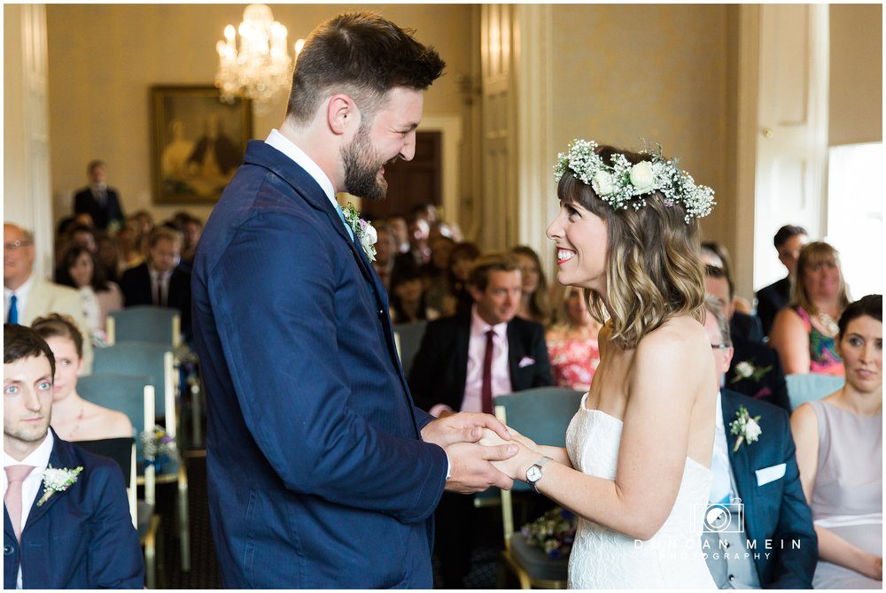 Wedding at Goldney Hall - Bride and Groom in Wedding Ceremony