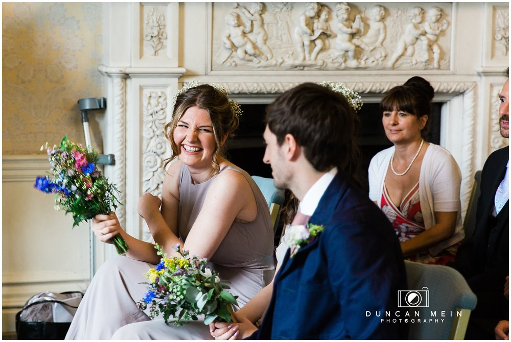 Wedding at Goldney Hall - Bridesmaid in wedding ceremony