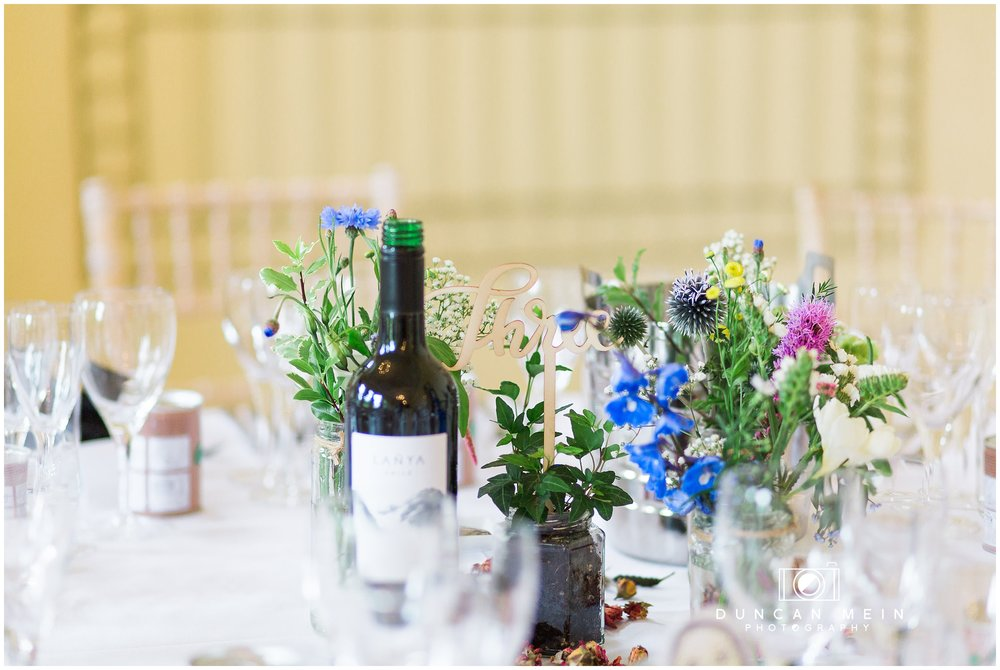 Wedding at Goldney Hall - Table Decorations
