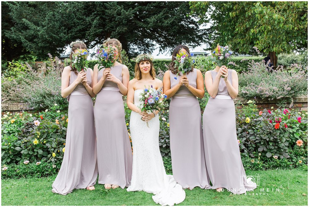 Wedding at Goldney Hall - Bride and Bridesmaids