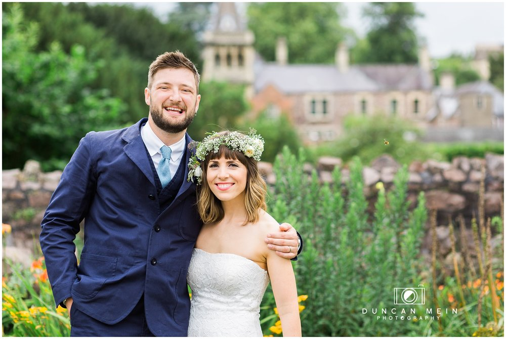 Wedding at Goldney Hall - Bride and Groom in grounds