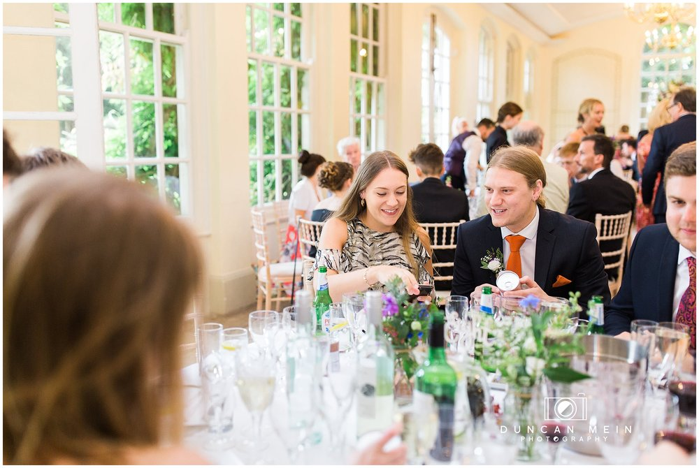Wedding at Goldney Hall - guests at the Wedding Breakfast