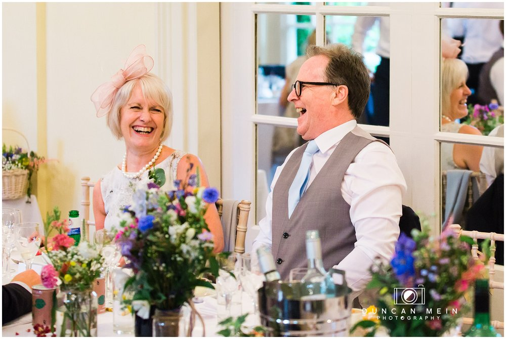 Wedding at Goldney Hall - Bride's Parents at the Wedding Breakfast