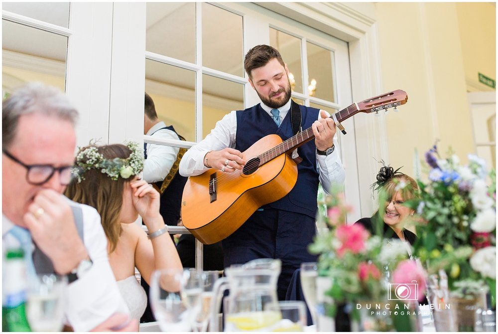 Wedding at Goldney Hall - Groom sings