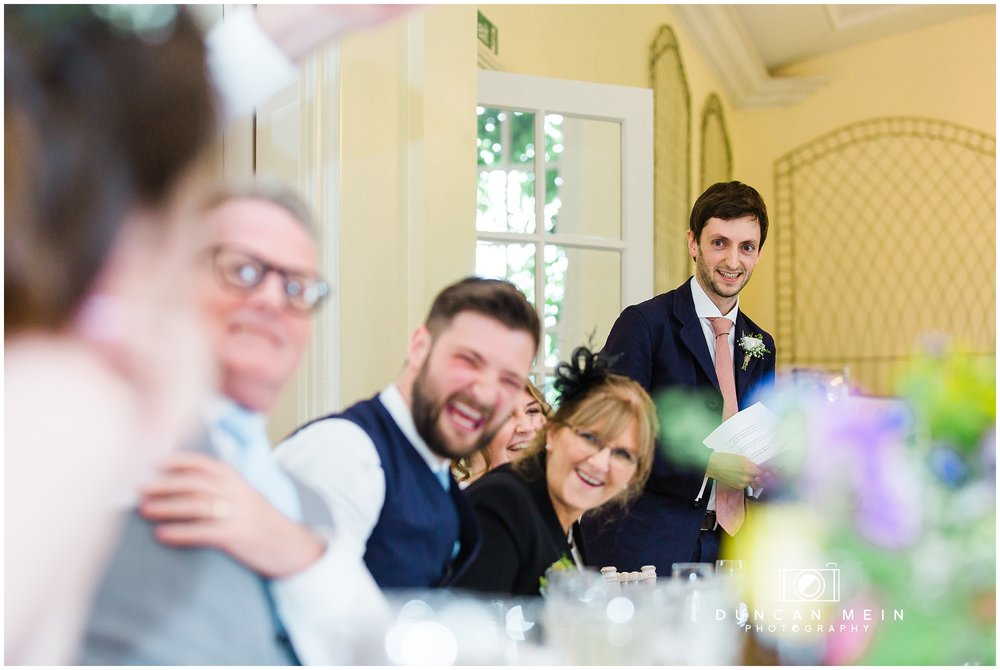 Wedding at Goldney Hall - Speeches