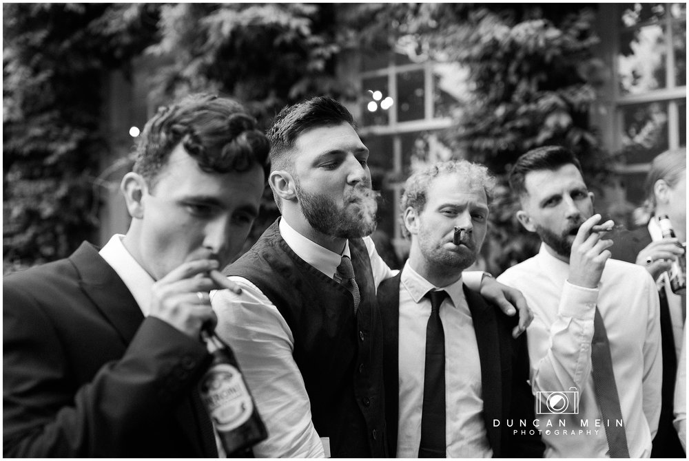 Wedding at Goldney Hall - Groom and friends