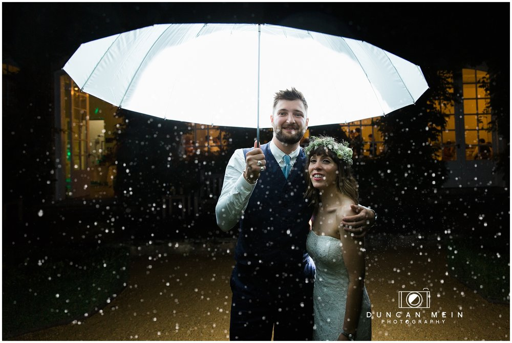 Wedding at Goldney Hall - Bride and Groom Night-time Portrait