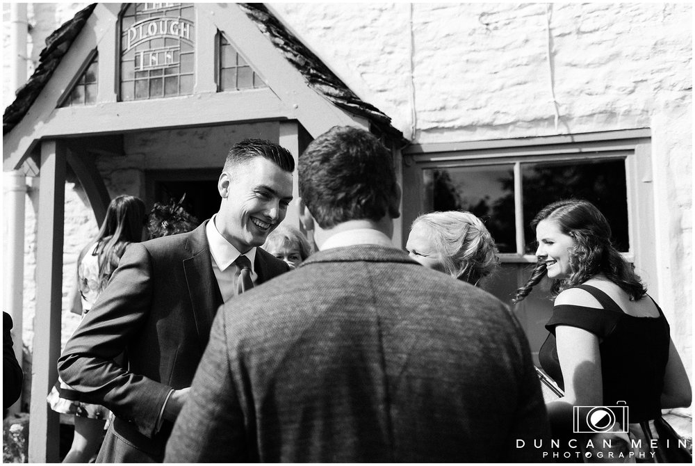 Wedding in Crudwell Village - Groom at The Potting Shed pub