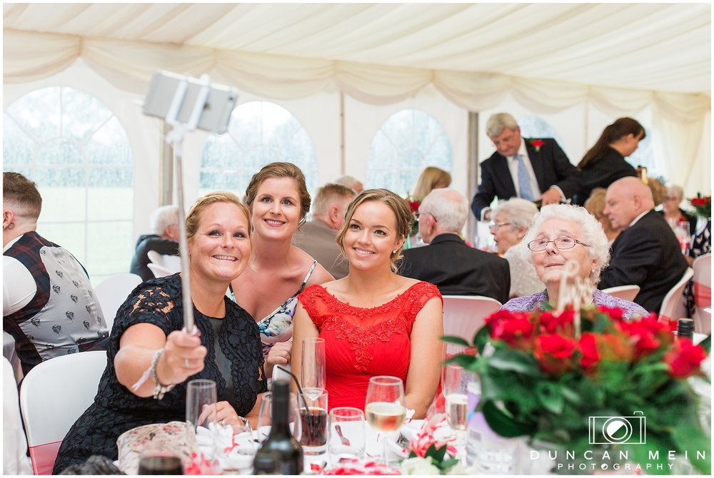 Wedding in Crudwell Village - Guests at the Wedding Breakfast