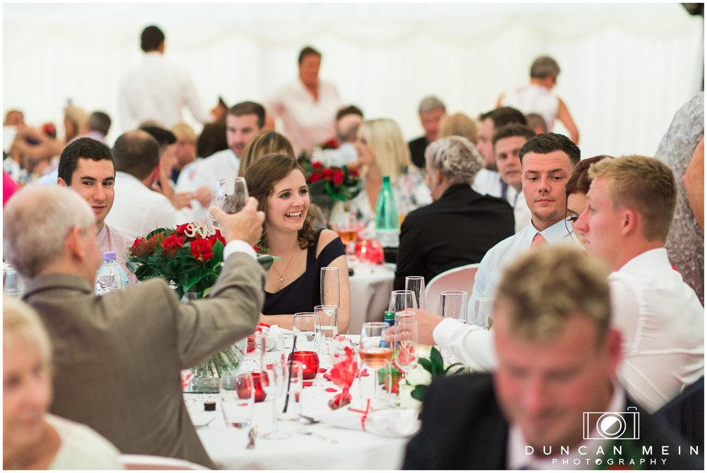 Wedding in Crudwell Village - Guests at the Reception