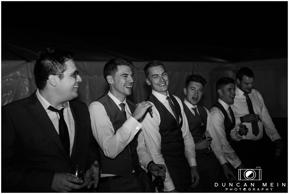 Wedding in Crudwell Village - Groom and friends