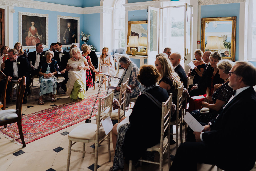 Kings Weston House Wedding - Ceremony in the Portrait Gallery
