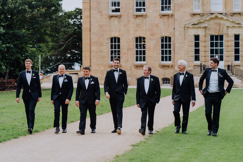 Kings Weston House Wedding - The Groom's Party