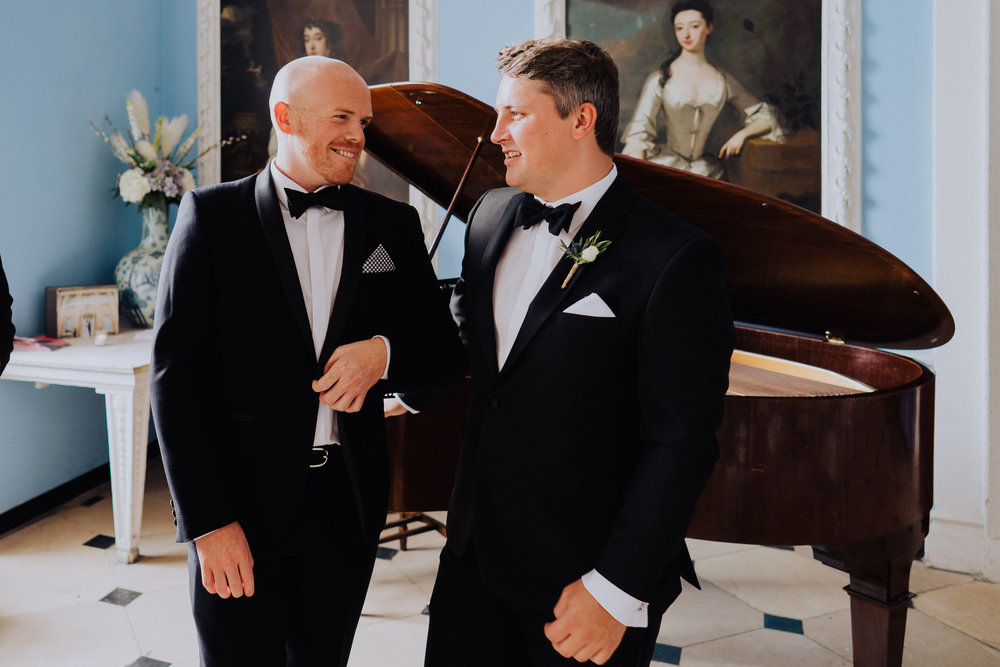Kings Weston House Wedding - Wedding Guests in the Portrait Gallery