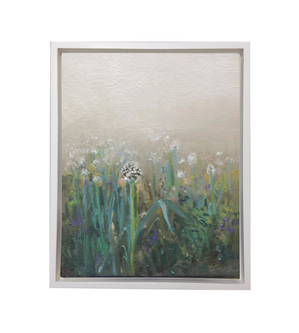 Allium in the Fog, 2018, oil on canvas, 14 x 11 inches, private collection