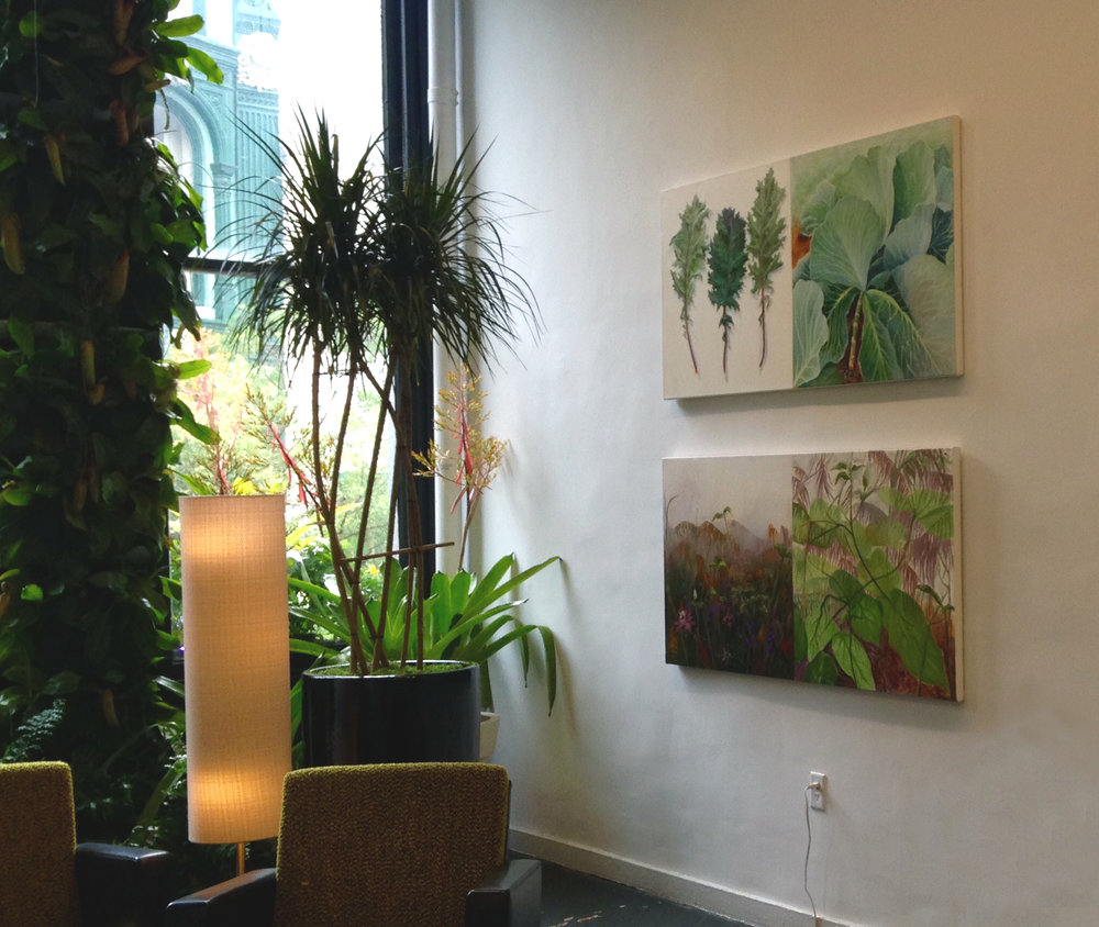 These paintings are each 60 inches wide!