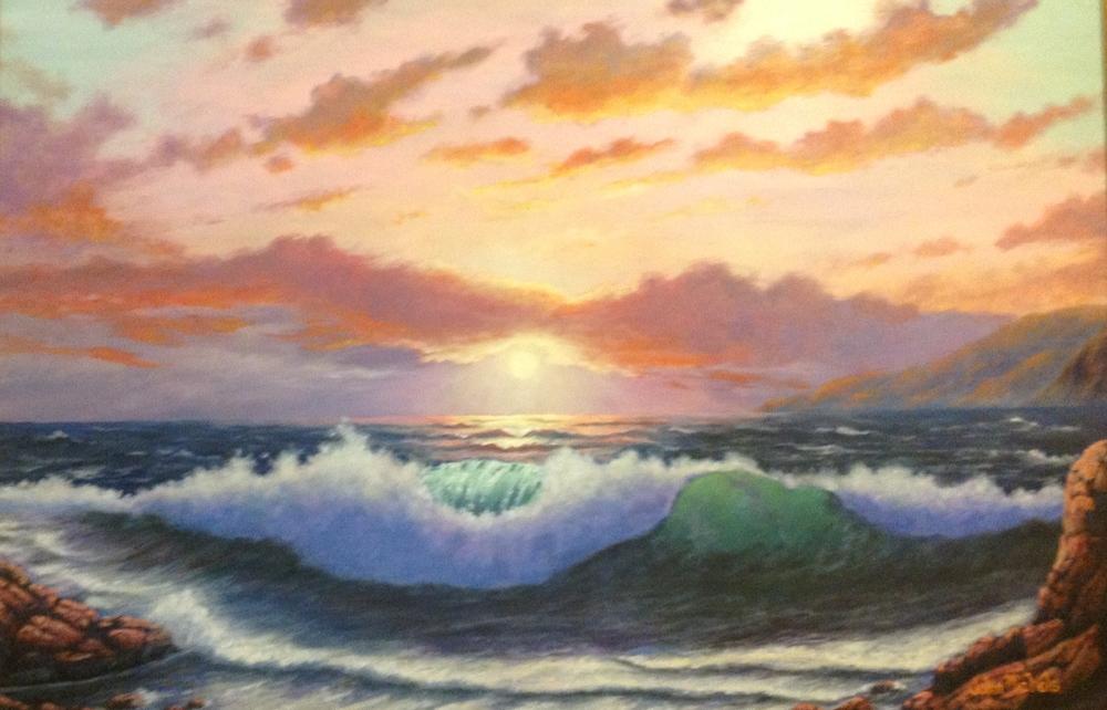 """Ocean at Sunset"""