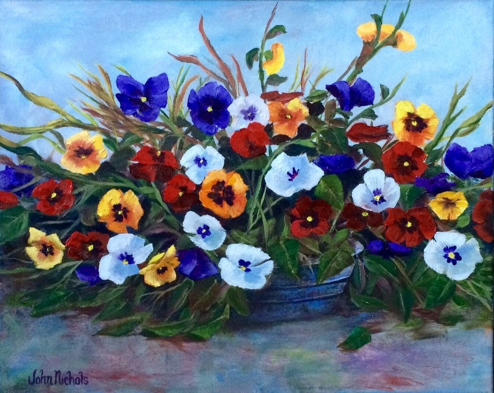 """Palette of Pansies"""