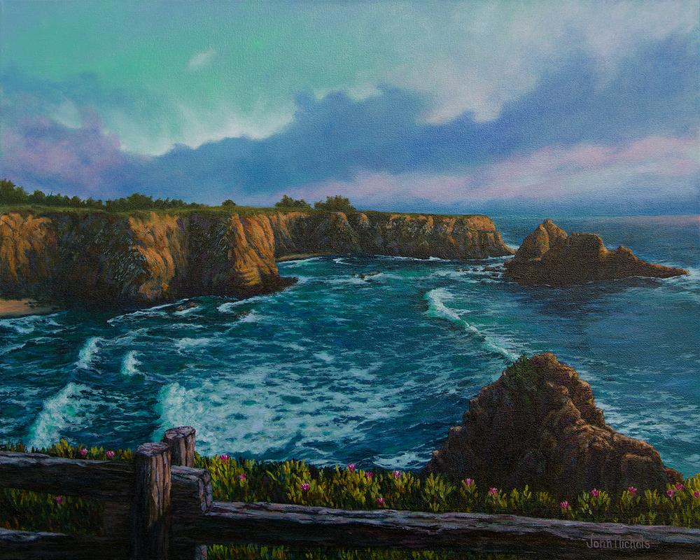 """Overlooking Cooks Beach"""
