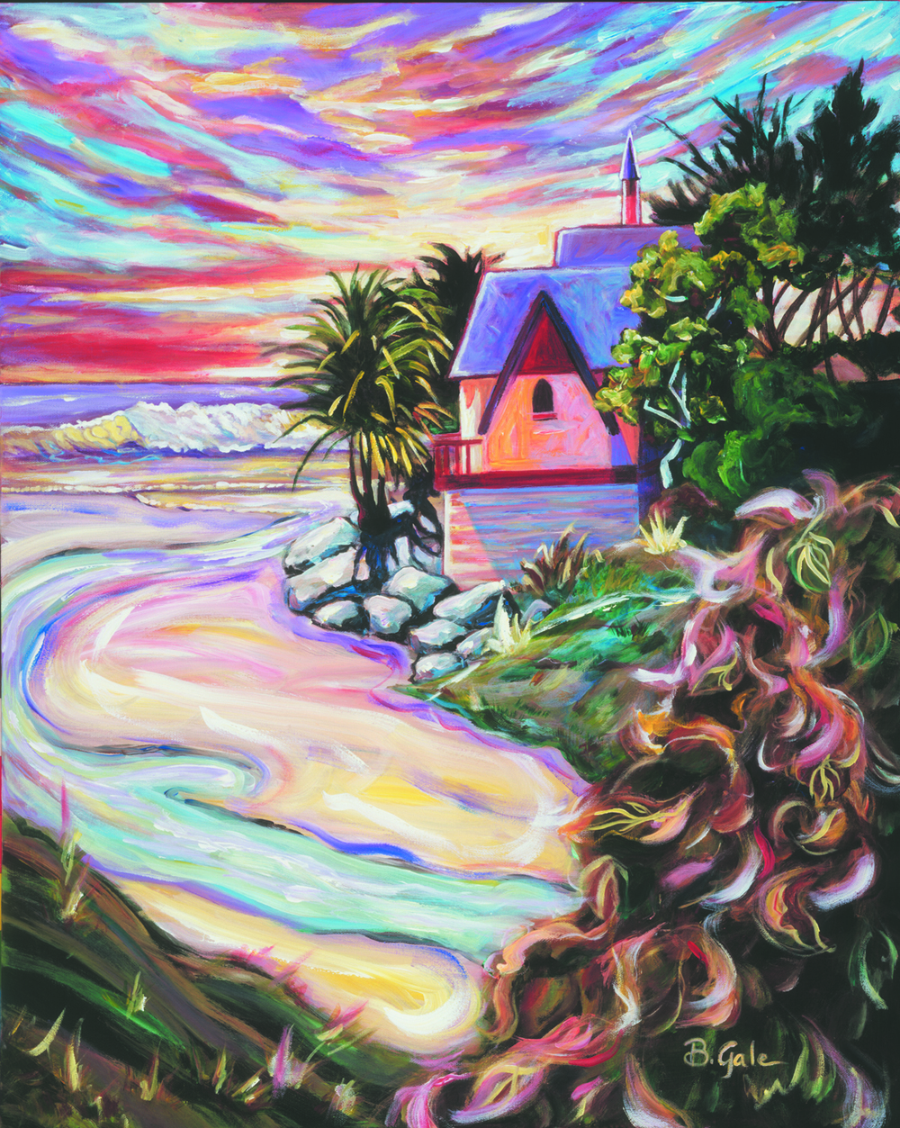 HOUSE at OLD CREEK, CAYUCOS Original 24x30 1,200.  Prints matted 8x10 $30, 11x14 $50.jpg