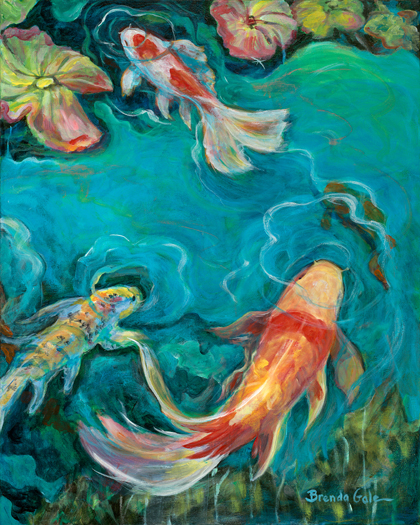 Lily Koi (right side of diptych)