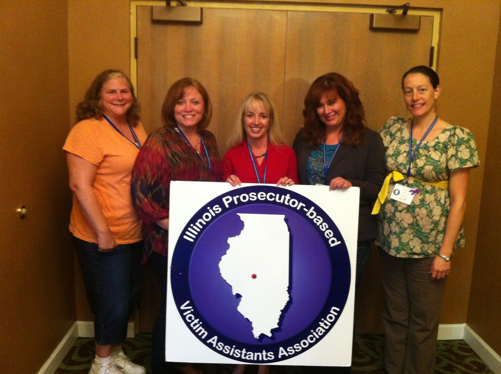 Speaking at the Illinois state conference for victim advocates