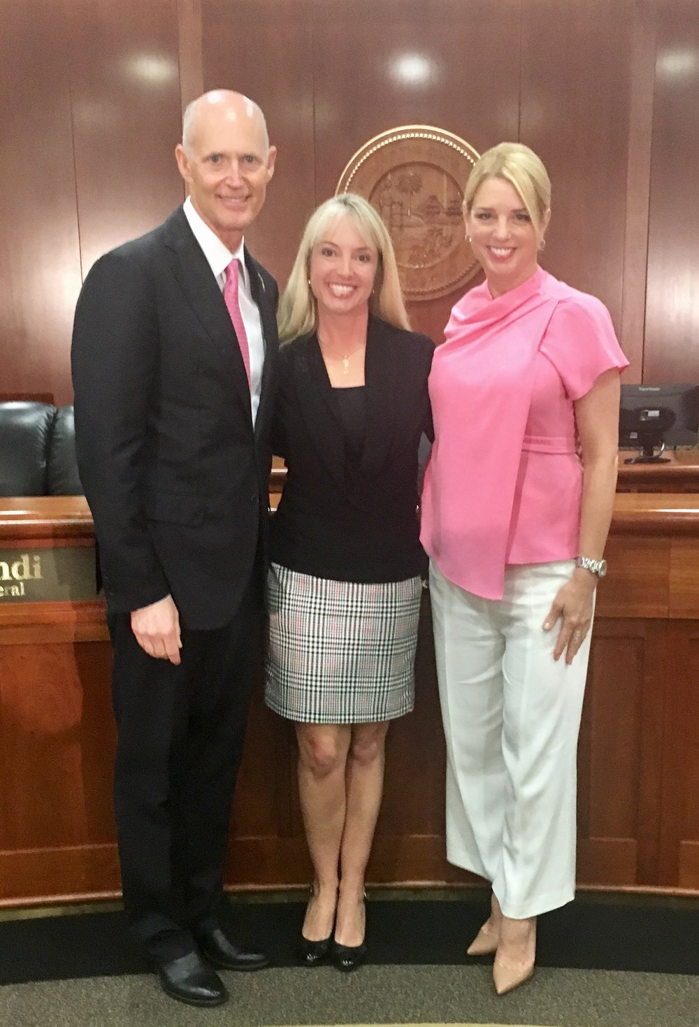 With Governor Rick Scott and Attorney General Pam Bondi at the National Crime Victims Rights Week Breakfast in Tallahassee, FL April 2017