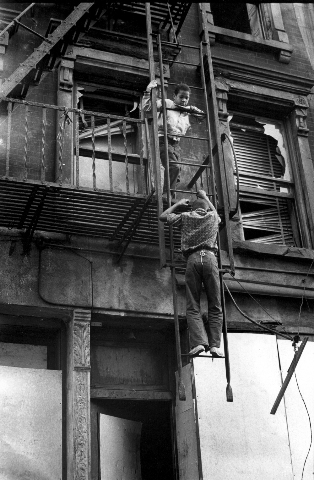 harlem kids on fire escape.jpg