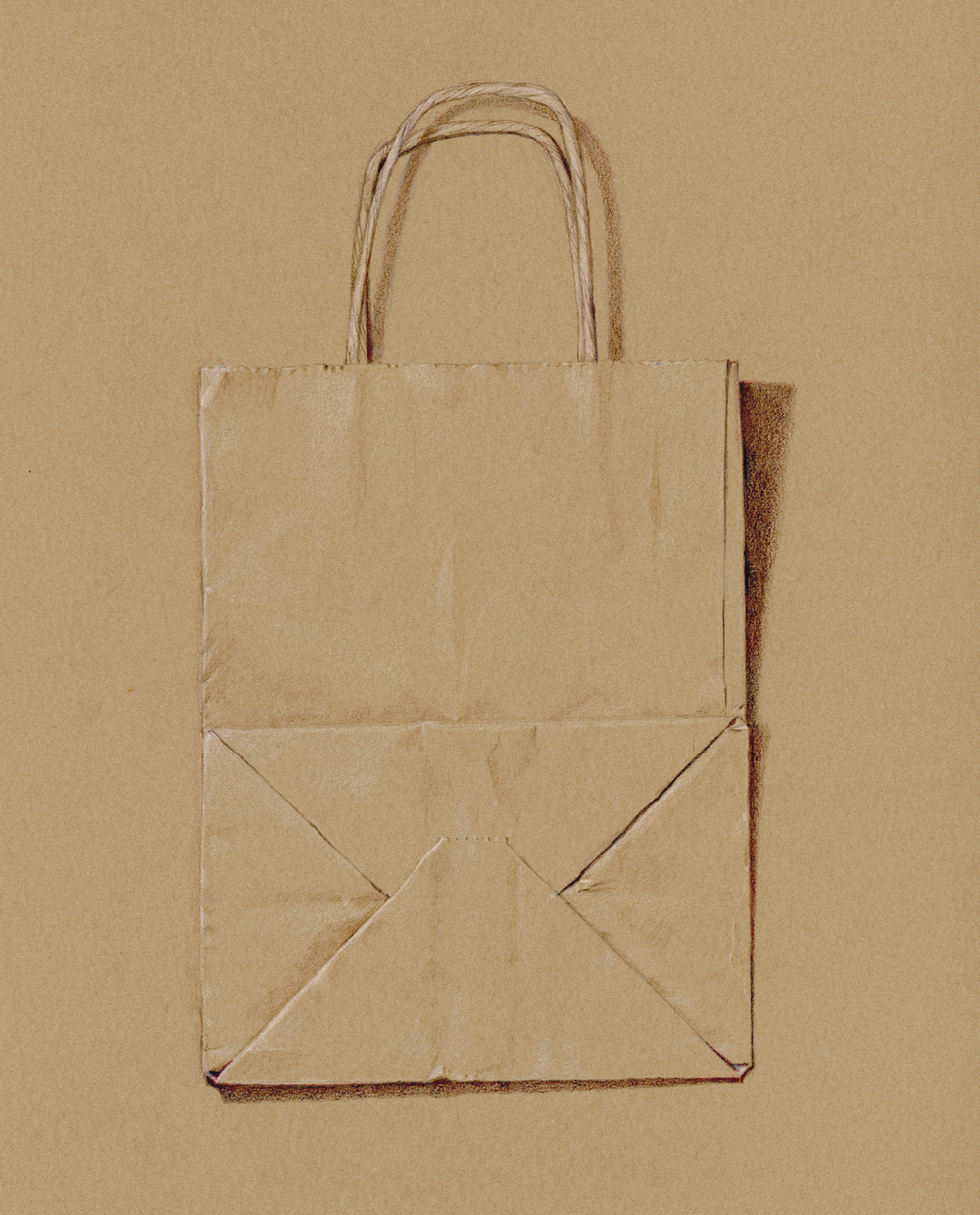 Paper bag - colored pencil