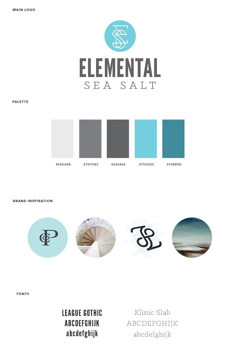 Elemental Sea Salt - Visual Brand and Logo Design - Brand Board