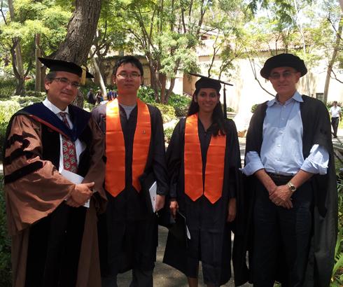 Ares Rosakis, Yuchen Wei, Yamuna Phal, Sergio Pellerino.