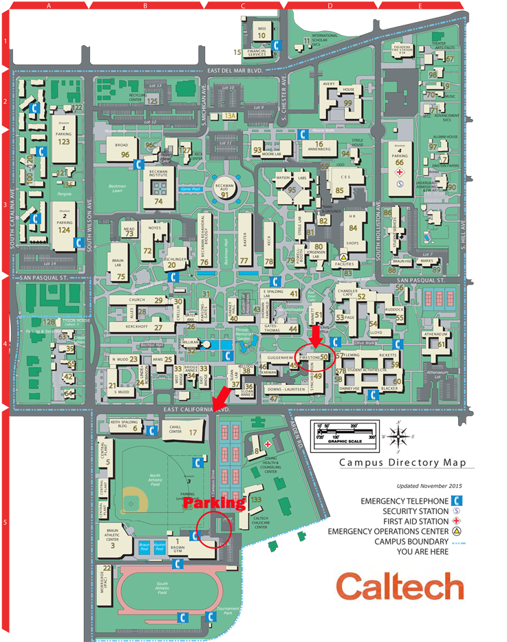 on caltech map