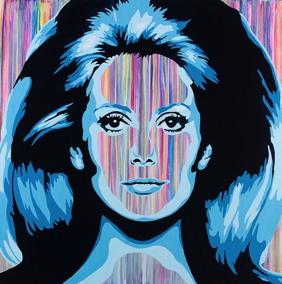 Catherine Deneuve Painting