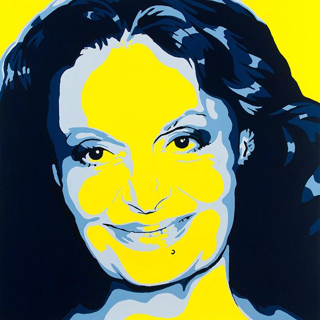 Diane Von Furstenberg Painting by Jeremy Penn