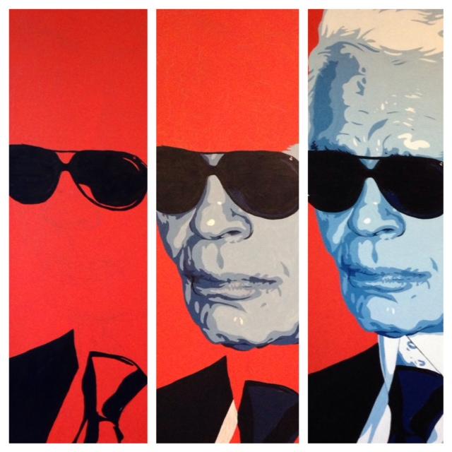 Jeremy Penn Painting Karl Lagerfeld