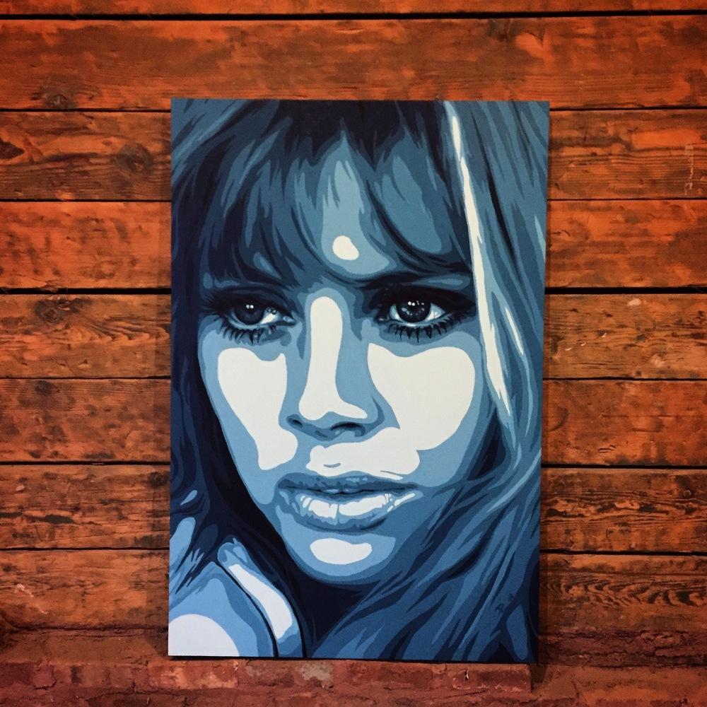 Britt Ekland Painting