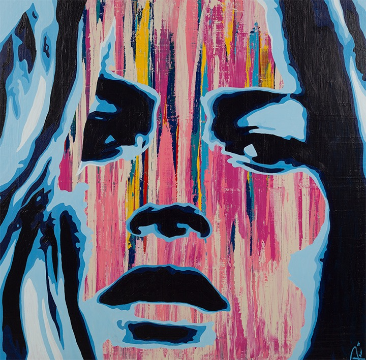 Kate Moss Painting