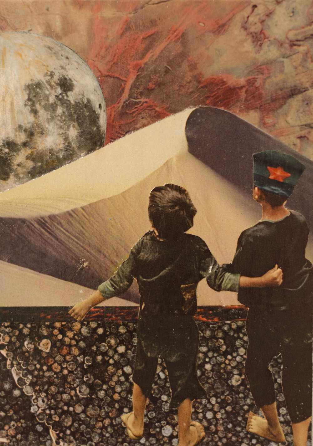 Jeremy Penn Collage Painting