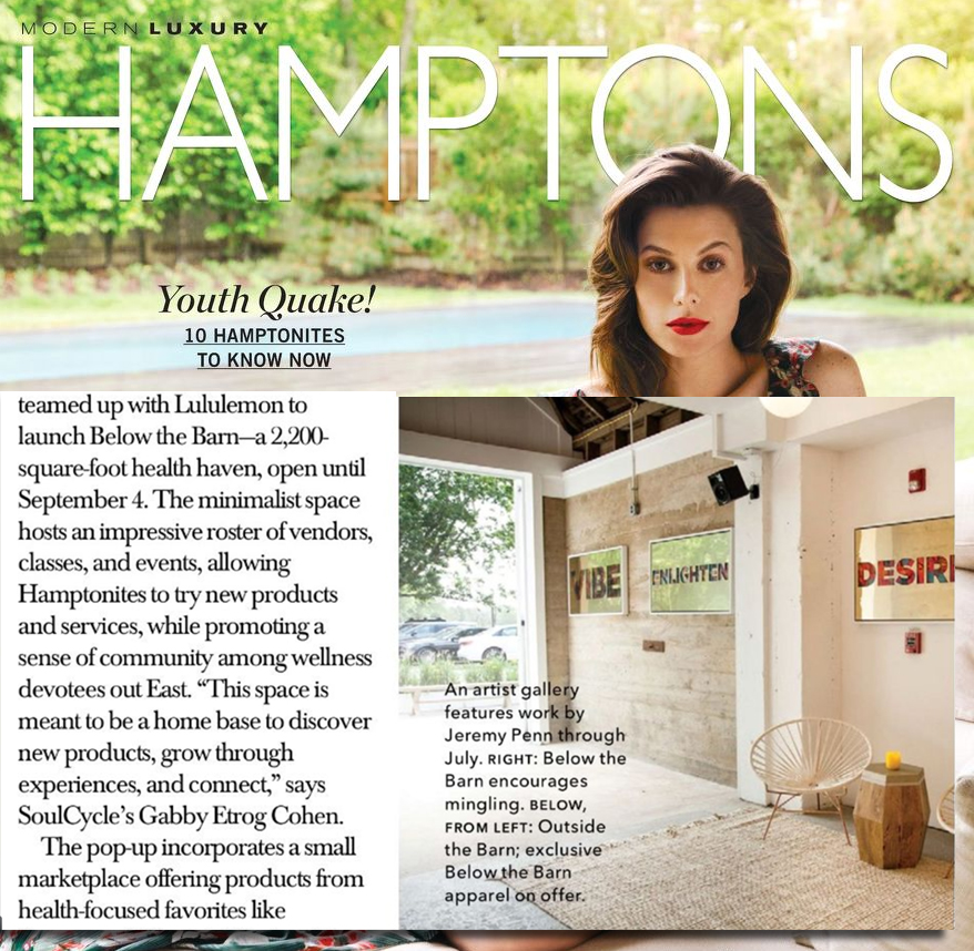 Jeremy Penn Art Featured in Hamptons Magazine