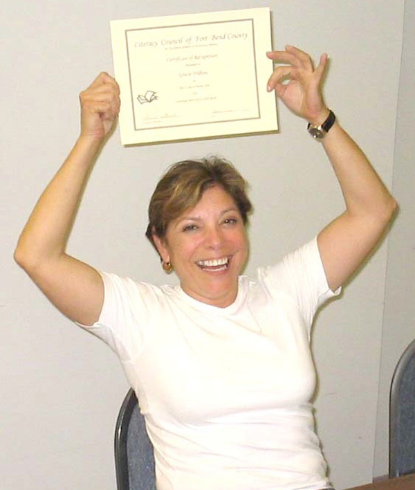 Copy of Gracie wth certificate 2.JPG