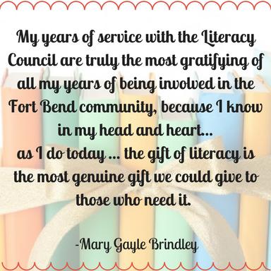 Mary Gayle Brindley LCFBC Advisory Council Member & Community Volunteer April 11, 2017